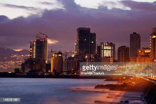 Lebanon, Beirut skyline at sunrise