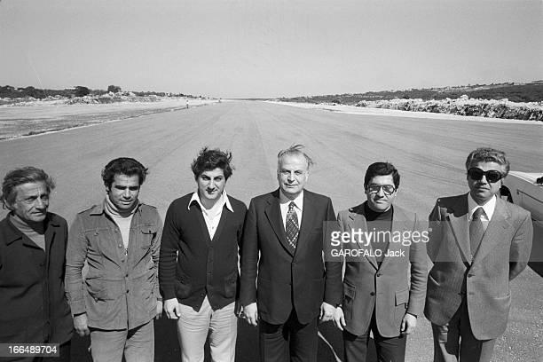 Lebanon War Liban 6 mars 1978 Guerre du Liban Conflits intérieurs attentats et milices sur une piste d'atterrissage de gauche à droite deux hommes...
