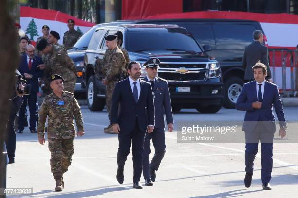 Lebanon's prime minister Saad Hariri arrives for the Independence Day ceremony on November 22 2017 in Beirut Lebanon Hariri arrived early Wednesday...