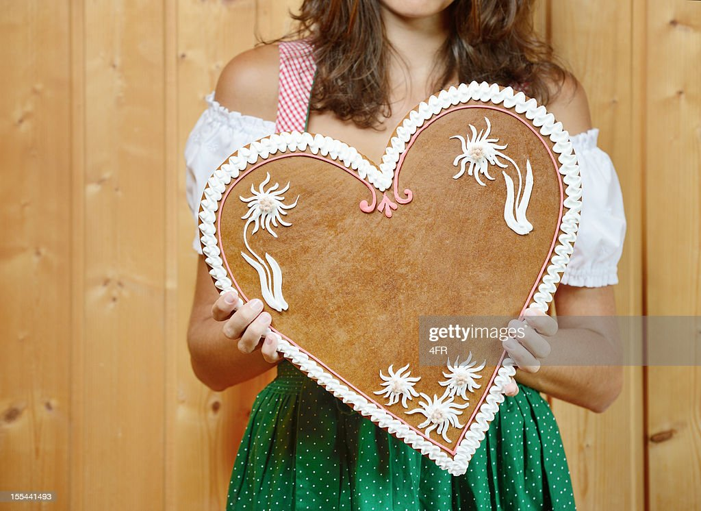 Lebkuchen Gingerbread Heart with Copy Space (XXXL)