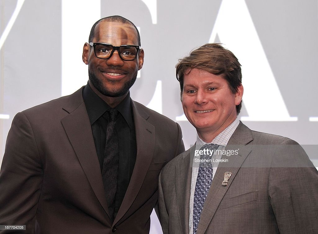 Lebron James and Frank Wall attend the 2012 Sports Illustrated Sportsman of the Year award presentation at Espace on December 5, 2012 in New York City.