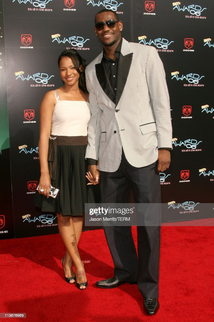 LeBron James (right) and guest during 2006 BET Awards - Arrivals at The Shrine in Los Angeles, California, United States.