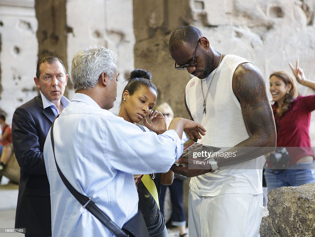 lebron james and his new wife savannah brinson sighting in rome