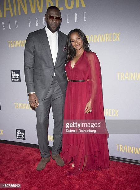 LeBron James and Savannah Brinson at the New York Premiere of 'Trainwreck' at Alice Tully Hall on July 14 2015 in New York City