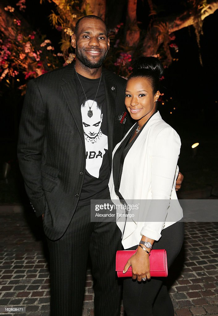 LeBron James and Savannah Brinson attend the Miami HEAT Family Foundation night of 'Motown Revue' on February 27, 2013 in Miami, Florida.