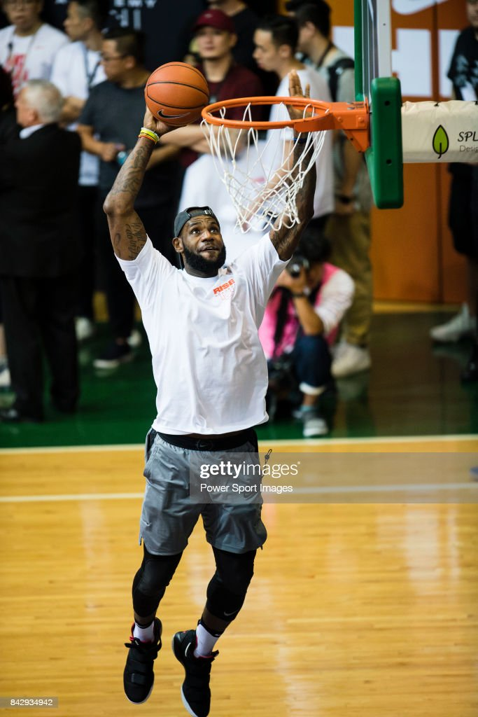 Lebron James appears at the Rise Academy Challenge on September 5, 2017 in Hong Kong, Hong Kong.