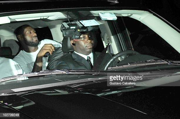 LeBron James arrives at W Hotel on July 9 2010 in Miami Florida