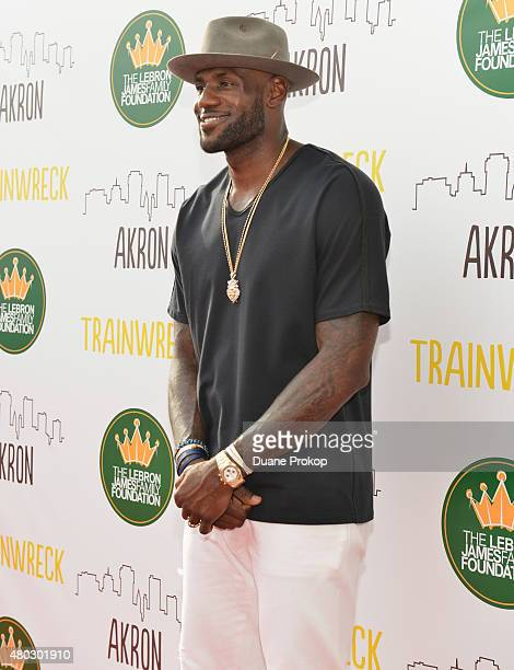 Lebron James attends a screening of 'Trainwreck' at Montrose Stadium 12 on July 10 2015 in Akron Ohio
