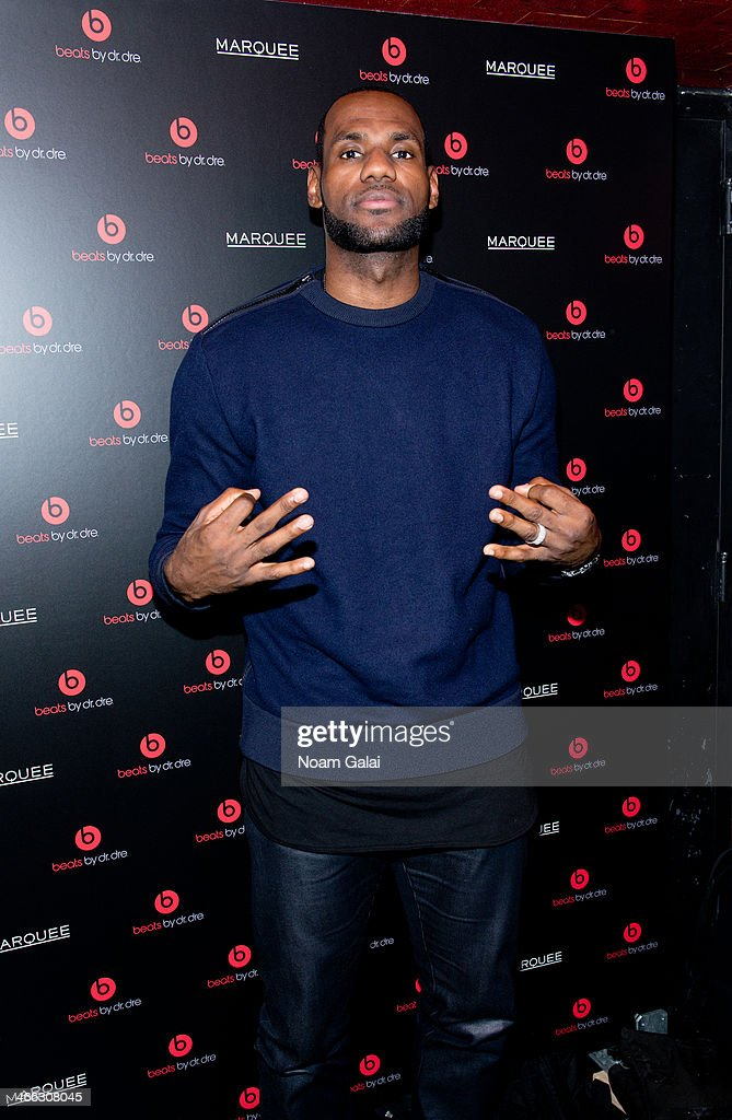 LeBron James attends Beats By Dr. Dre special event At Marquee New York on January 31, 2014 in New York City.