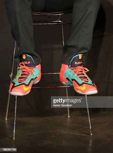 LeBron James attends LeBron James 11/11 Experience hosted by Nike on October 27 2013 in Miami Beach Florida