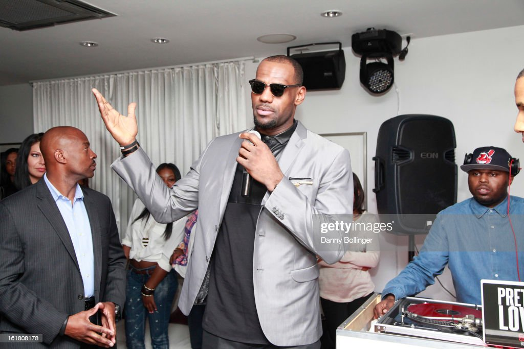 Lebron James attends <a gi-track='captionPersonalityLinkClicked' href=/galleries/search?phrase=LeBron+James&family=editorial&specificpeople=201474 ng-click='$event.stopPropagation()'>LeBron James</a>, Believe Entertainment Group And Spring Hill Prods. All-Star Celebration To Kick Off Season Two Of 'The LeBrons' at Hudson Lounge on February 15, 2013 in Houston, Texas.