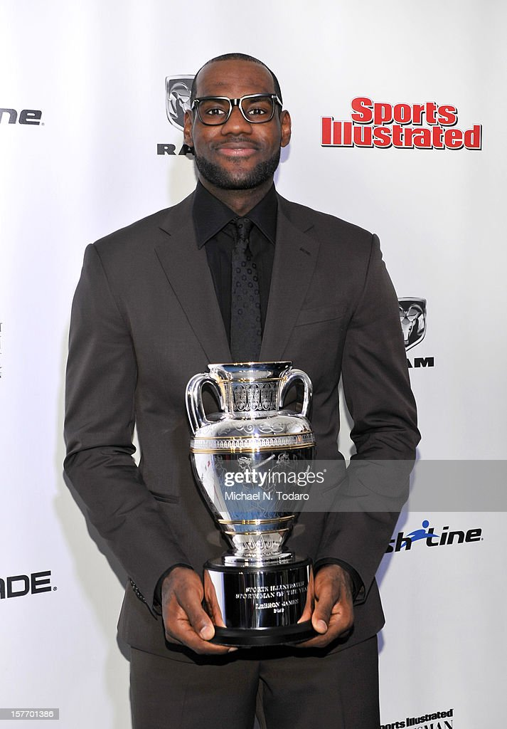 <a gi-track='captionPersonalityLinkClicked' href=/galleries/search?phrase=LeBron+James&family=editorial&specificpeople=201474 ng-click='$event.stopPropagation()'>LeBron James</a> attends the 2012 Sports Illustrated Sportsman of the Year award presentation at Espace on December 5, 2012 in New York City.
