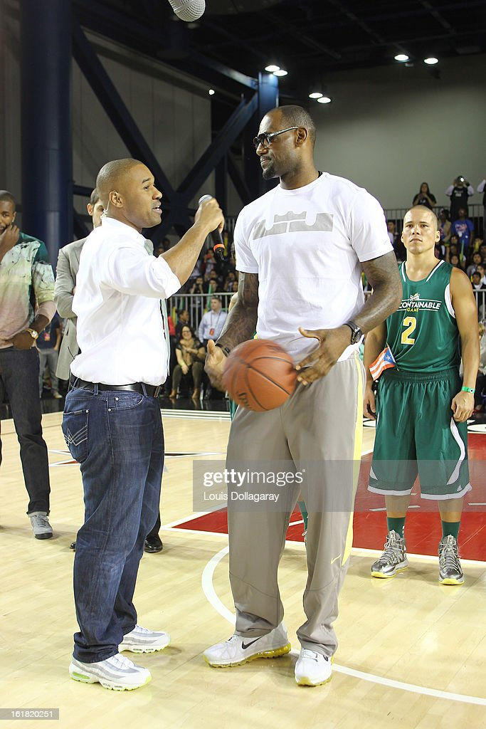 Lebron James attends the 2013 NBA All-Star Celebrity Game at George R. Brown Convention Center on February 15, 2013 in Houston, Texas.