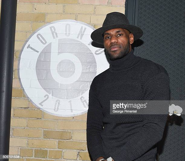 LeBron James attends the Beats In The Six And Drake Welcome Dinner at Fring's on February 11 2016 in Toronto Canada