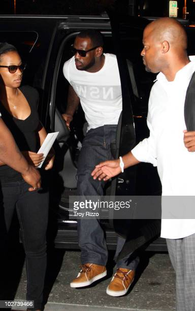 LeBron James is seen arriving at a South Beach hotel shortly after announcing his decision to sign with the Miami HEAT on July 9 2010 in Miami Florida
