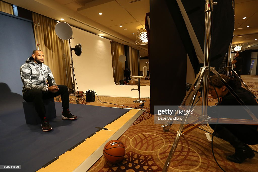 <a gi-track='captionPersonalityLinkClicked' href=/galleries/search?phrase=LeBron+James&family=editorial&specificpeople=201474 ng-click='$event.stopPropagation()'>LeBron James</a> #23 of the Cleveland Cavaliers behind the scenes during the NBAE Circuit as part of 2016 NBA All-Star Weekend at the Sheraton Centre Toronto Hotel on February 12, 2016 in Toronto, Ontario, Canada.