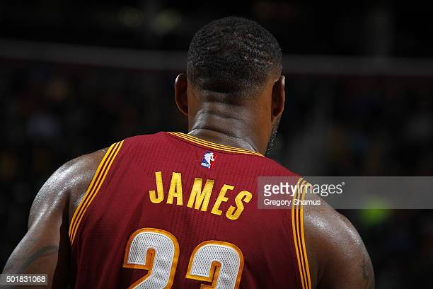 LeBron James of the Cleveland Cavaliers is seen during the game Oklahoma City Thunder on December 17 2015 at Quicken Loans Arena in Cleveland Ohio...