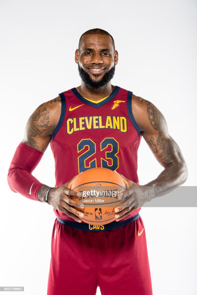 lebron 2017. lebron james #23 of the cleveland cavaliers poses during media day at clinic courts lebron 2017