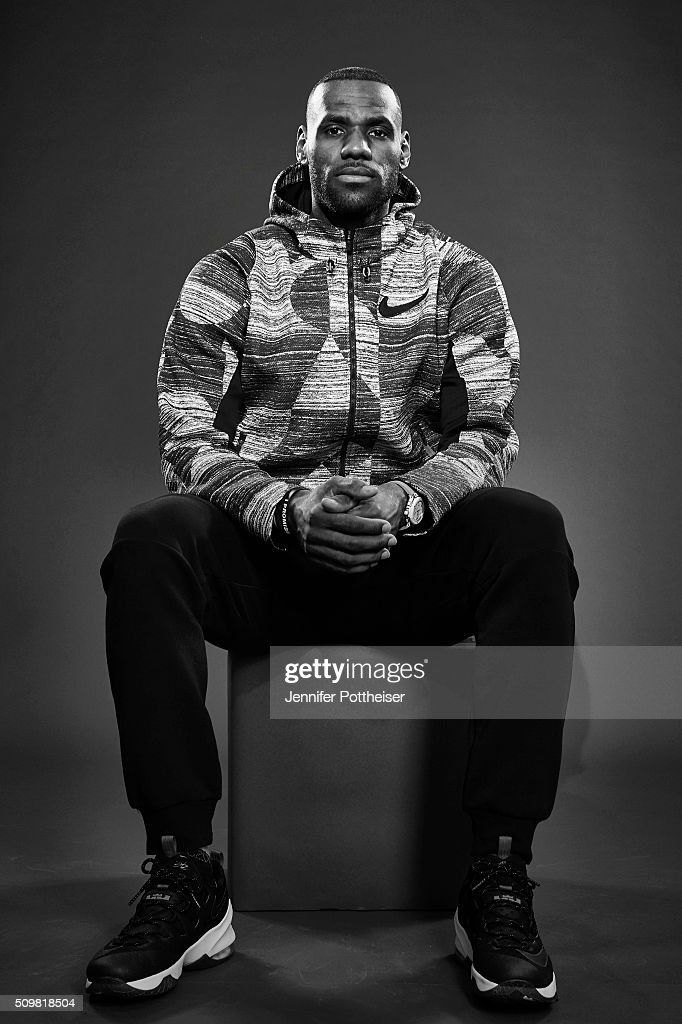 <a gi-track='captionPersonalityLinkClicked' href=/galleries/search?phrase=LeBron+James&family=editorial&specificpeople=201474 ng-click='$event.stopPropagation()'>LeBron James</a> #23 of the Cleveland Cavaliers poses for a portrait during NBA All-Star Weekend on February 12, 2016 at the Sheraton Centre in Toronto, Ontario Canada.