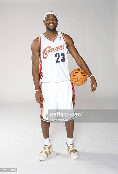 LeBron James of the Cleveland Cavaliers poses for a portrait during NBA Media Day on October 2 2006 in Cleveland Ohio NOTE TO USER User expressly...
