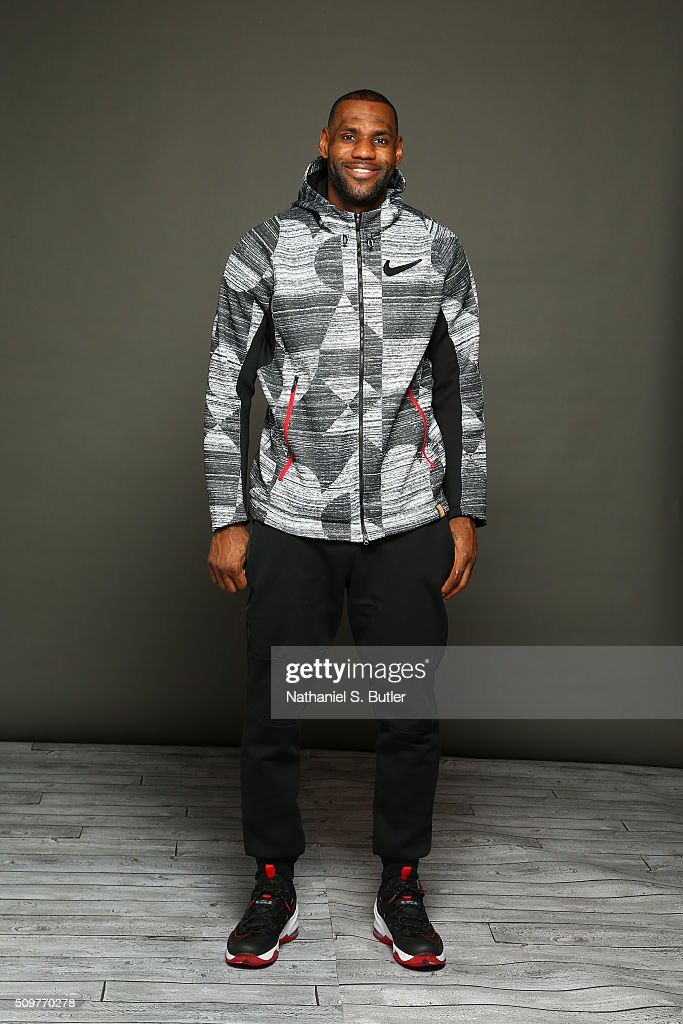 <a gi-track='captionPersonalityLinkClicked' href=/galleries/search?phrase=LeBron+James&family=editorial&specificpeople=201474 ng-click='$event.stopPropagation()'>LeBron James</a> #23 of the Cleveland Cavaliers poses for a portrait on February 12, 2016 at the Sheraton Centre as part of 2016 NBA All-Star Weekend in Toronto, Ontario Canada.