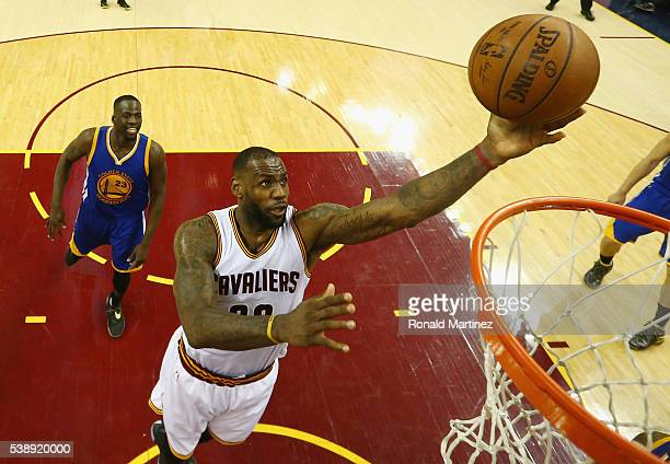 LeBron James of the Cleveland Cavaliers shoots the ball during the second half against the Golden State Warriors in Game 3 of the 2016 NBA Finals at...