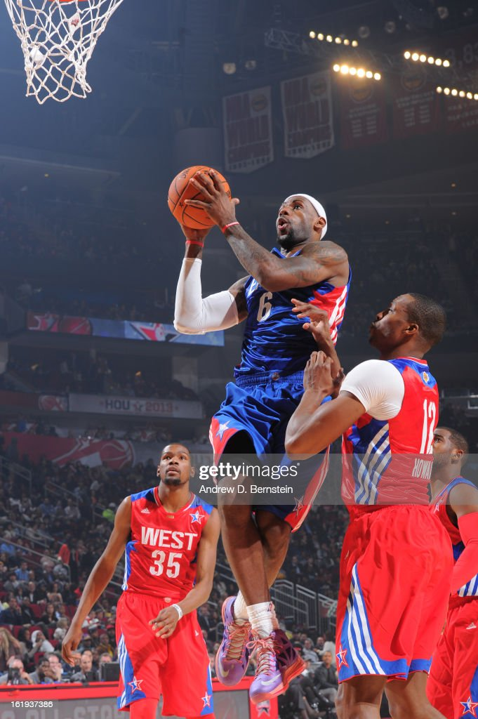 Lebron James #6 of the Eastern Conference All-Stars attempts a shot during the 2013 NBA All-Star Game on February 17, 2013 at Toyota Center in Houston, Texas.