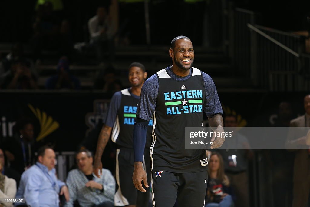 LeBron James #6 of the Eastern Conference All-Stars participates in the NBA All-Star Practices at Sprint Arena as part of 2014 NBA All-Star Weekend at the Ernest N. Morial Convention Center on February 15, 2014 in New Orleans, Louisiana.