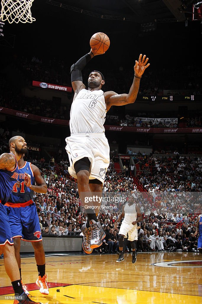 <a gi-track='captionPersonalityLinkClicked' href=/galleries/search?phrase=LeBron+James&family=editorial&specificpeople=201474 ng-click='$event.stopPropagation()'>LeBron James</a> #6 of the Miami Heat goes in for the big dunk during a game on December 6, 2012 at American Airlines Arena in Miami, Florida.