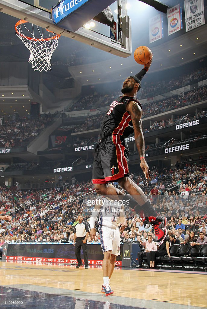 lebron new jersey. lebron james #6 of the miami heat goes to basket for a dunk during lebron new jersey