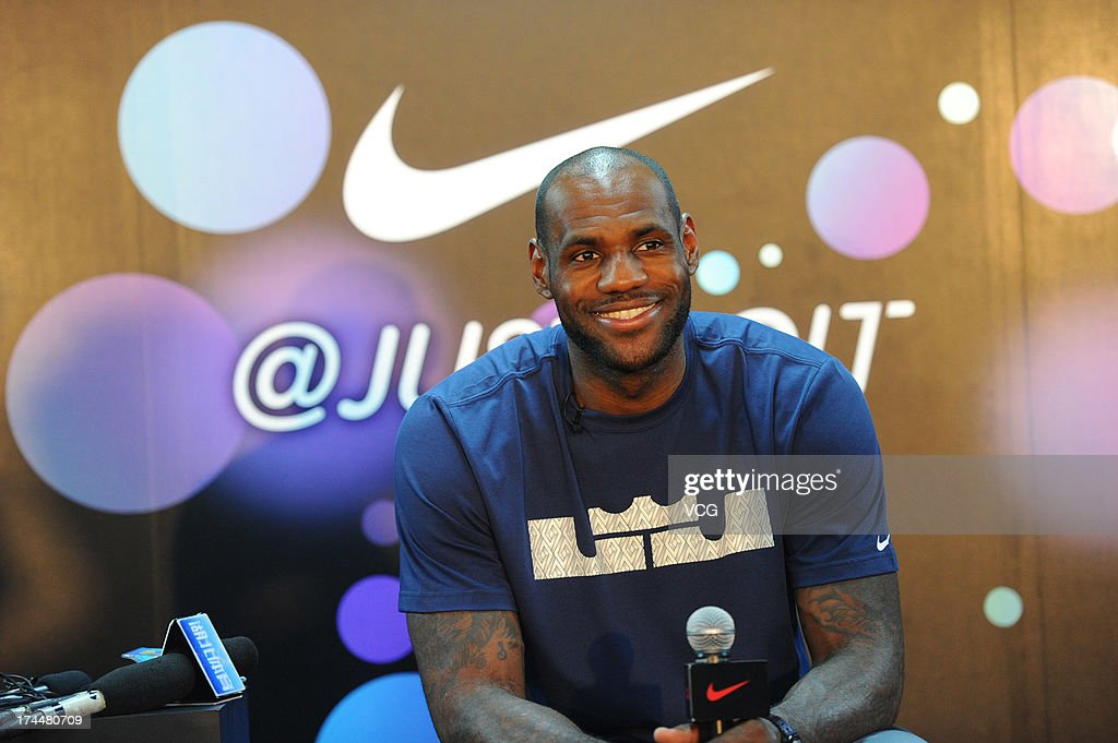 LeBron James of the Miami Heat meets fans at Optics Valley Gymnasium on July 26, 2013 in Wuhan, China.