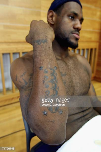 Lebron James Tattoos Stock Photos and Pictures | Getty Images