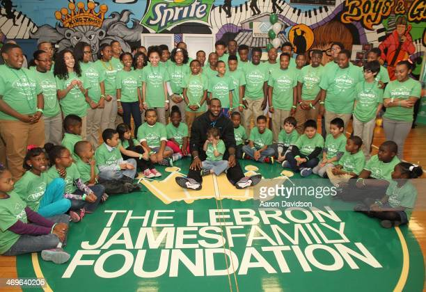 LeBron James Sprite and the LeBron James Family Foundation unveiled a legacy project including a refurbished gymnasium at the Boys and Girls Club of...