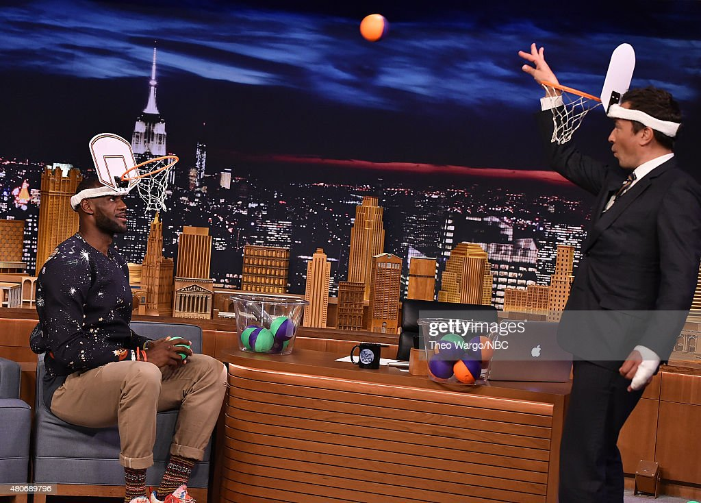LeBron James Visits 'The Tonight Show Starring Jimmy Fallon' at Rockefeller Center on July 14, 2015 in New York City.