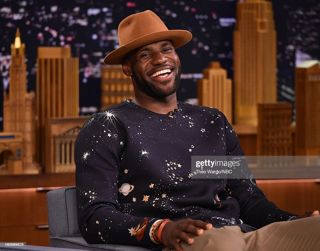 <a gi-track='captionPersonalityLinkClicked' href=/galleries/search?phrase=LeBron+James&family=editorial&specificpeople=201474 ng-click='$event.stopPropagation()'>LeBron James</a> Visits 'The Tonight Show Starring Jimmy Fallon' at Rockefeller Center on July 14, 2015 in New York City.