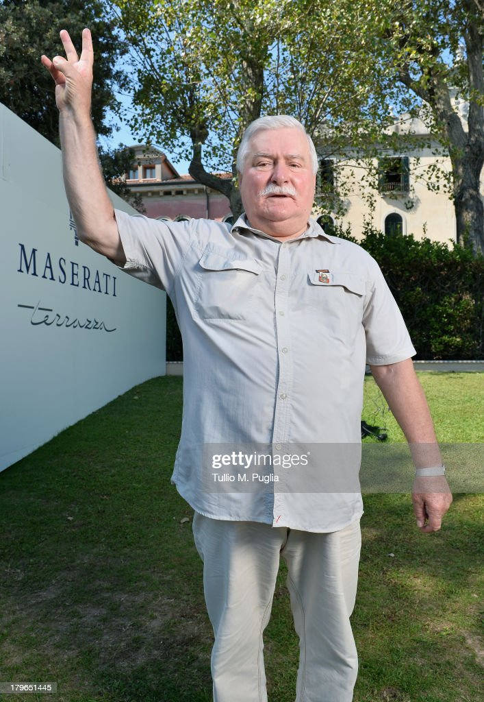 <a gi-track='captionPersonalityLinkClicked' href=/galleries/search?phrase=Lech+Walesa&family=editorial&specificpeople=93677 ng-click='$event.stopPropagation()'>Lech Walesa</a> attends the 70th Venice International Film Festival at Terrazza Maserati on September 6, 2013 in Venice, Italy.
