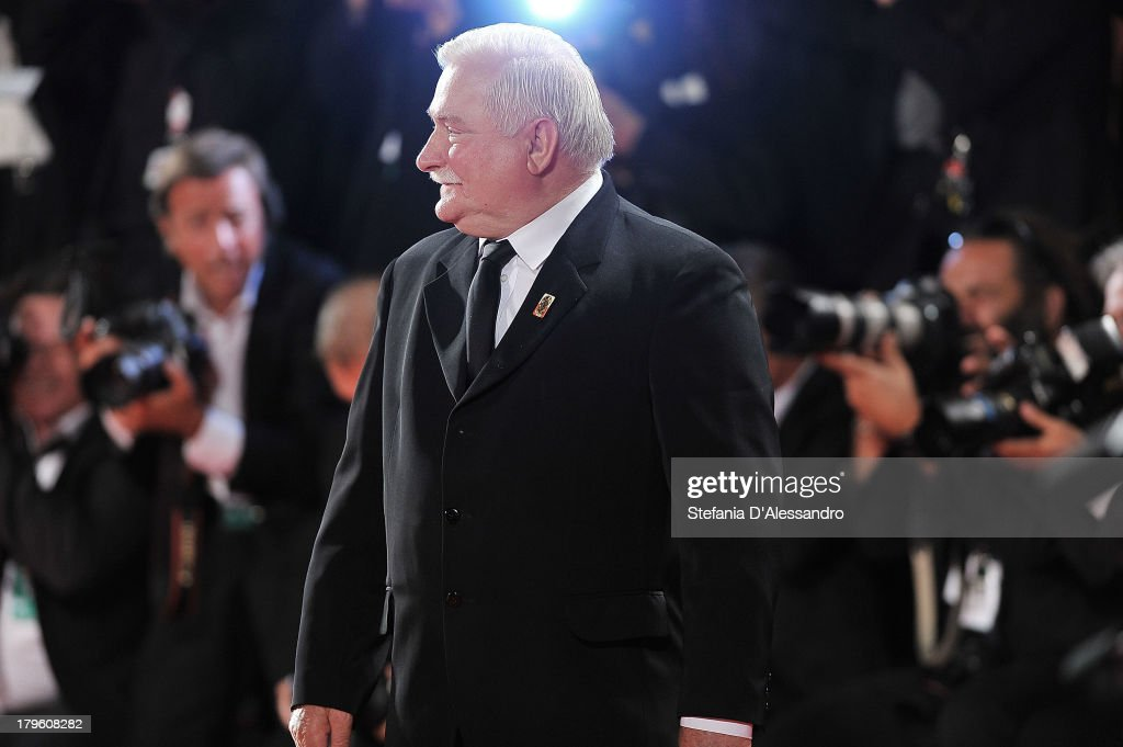 <a gi-track='captionPersonalityLinkClicked' href=/galleries/search?phrase=Lech+Walesa&family=editorial&specificpeople=93677 ng-click='$event.stopPropagation()'>Lech Walesa</a> attends the 'Walesa: Man Of Hope' Premiere during the 70th Venice International Film Festival at the Palazzo del Cinema on September 5, 2013 in Venice, Italy.