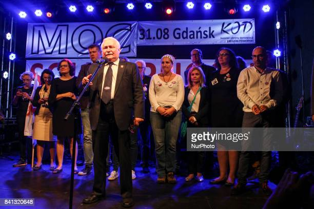 Lech Walesa during the 37th anniversary of the Gdansk Agreement Gdansk Poland on 31 August 2017 The Gdansk Agreement was an accord reached as a...