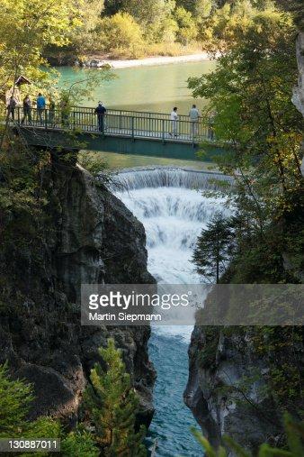 Lechfall Waterfall Lech River Near Fussen Ostallgaeu ...