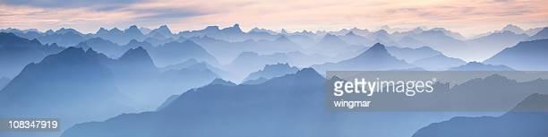 Lechtaler panorama von mt. zugspitze-Deutschland