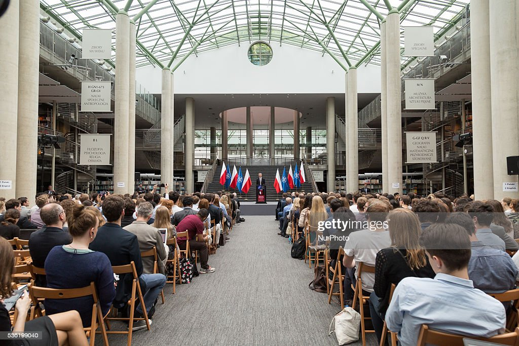 Lecture of Secretary General of NATO, Jens Stoltenberg at University of Warsaw Library on 31 May 2016 in Warsaw, Poland.