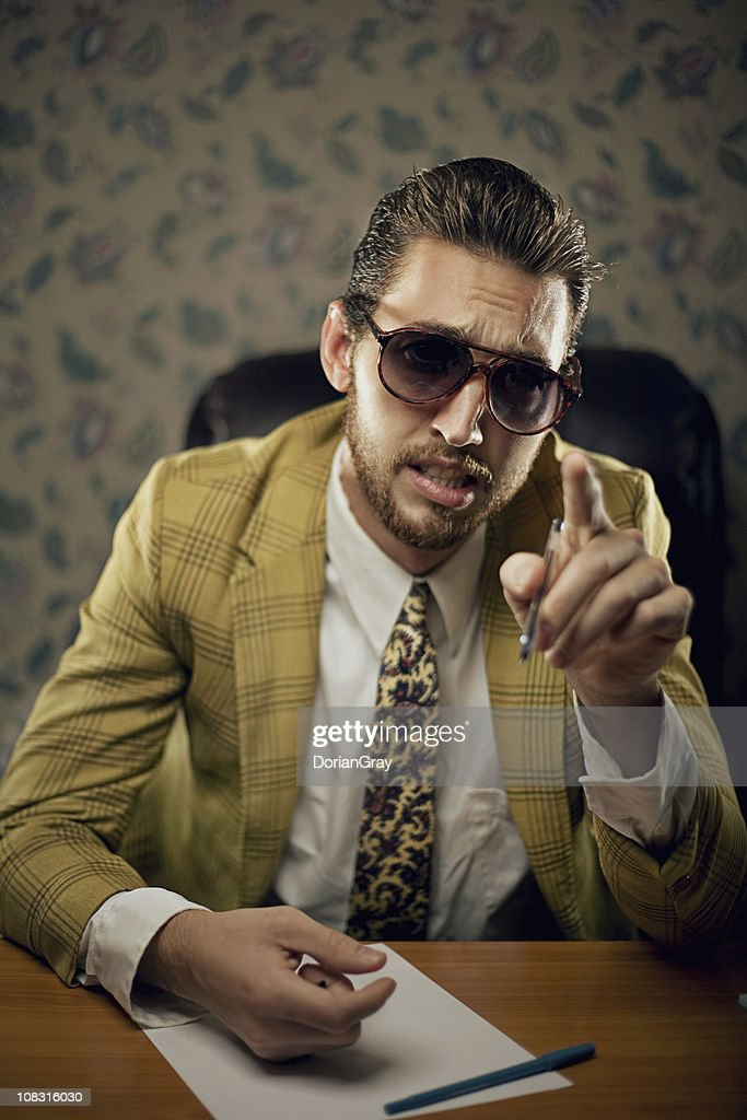 lecturing salesman : Stock Photo