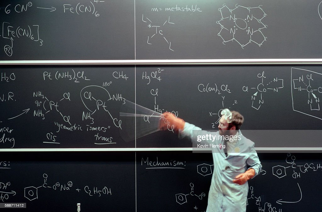 Lecturing Scientist Waving a Pointer
