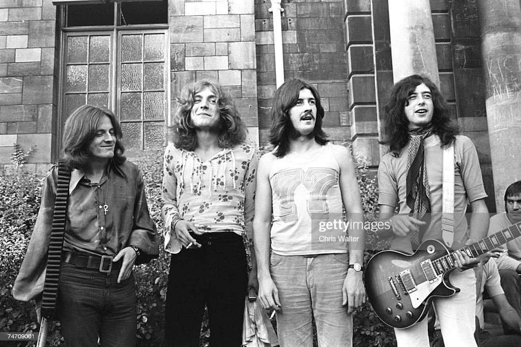 Led Zeppelin, 1969 Bath Festival (John Paul Jones, Robert Plant, John Bonham, Jimmy Page) at the Music File Photos 1960's in Various Cities,