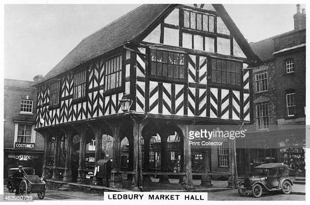 Ledbury Market Hall Herefordshire 1937 The Market House built on posts dates back to the 1650s Sights of Britain third series of 48 cigarette cards...