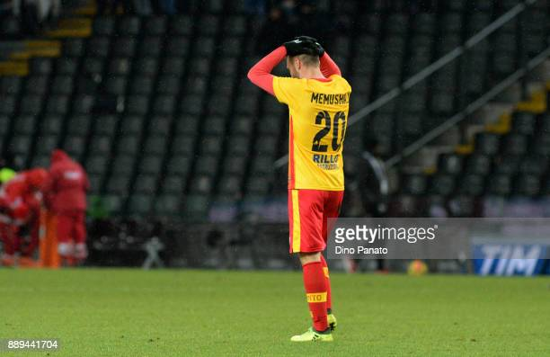 Ledian Memushaj of Benevento Calcio shows his dejection after the Serie A match between Udinese Calcio and Benevento Calcio at Stadio Friuli on...