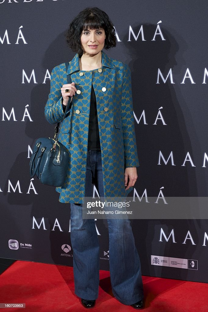 Ledicia Sola attends the 'Mama' premiere at the Callao cinema on February 4, 2013 in Madrid, Spain.
