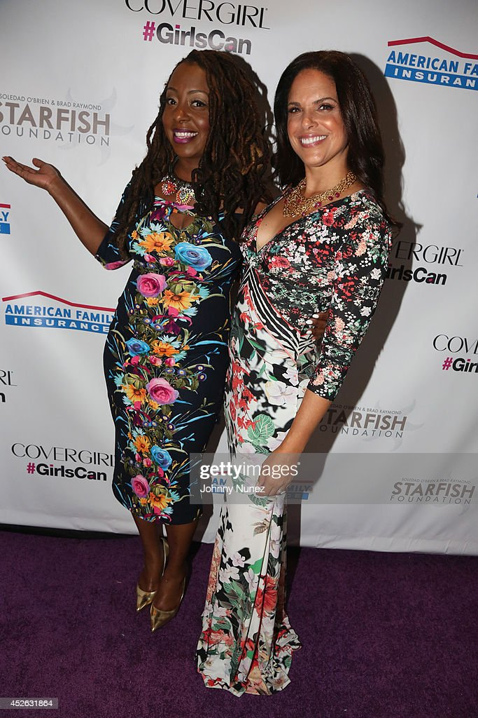 Ledisi and Soledad O'Brien attend Soledad O'Brien Brad Raymond Starfish Foundation 4th Annual New Orleans To New York City Gala at Espace on July 24...