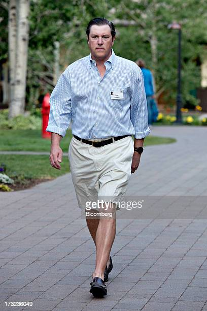 Lee Ainslie fund manager for Maverick Capital Ltd arrives for a morning session during the Allen Co Media and Technology Conference in Sun Valley...