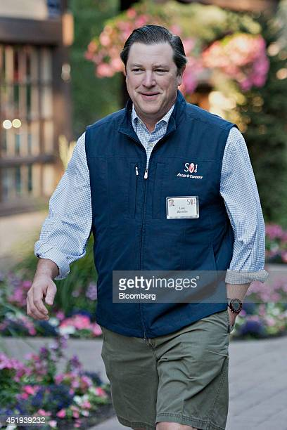 Lee Ainslie fund manager for Maverick Capital walks the grounds during the Allen Co Media and Technology Conference in Sun Valley Idaho US on...